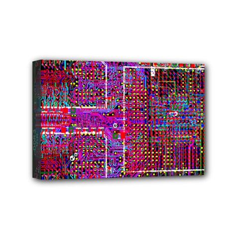 Technology Circuit Board Layout Pattern Mini Canvas 6  X 4