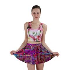 Technology Circuit Board Layout Pattern Mini Skirt
