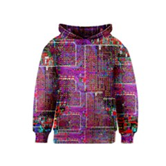 Technology Circuit Board Layout Pattern Kids  Pullover Hoodie