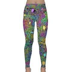 Starbursts Biploar Spring Colors Nature Classic Yoga Leggings