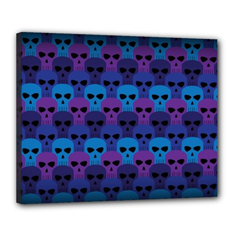 Skull Pattern Wallpaper Canvas 20  X 16
