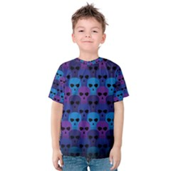 Skull Pattern Wallpaper Kids  Cotton Tee