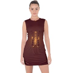 Spiral Vintage Lace Up Front Bodycon Dress