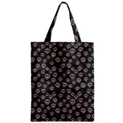 Skull Halloween Background Texture Zipper Classic Tote Bag