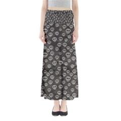 Skull Halloween Background Texture Full Length Maxi Skirt