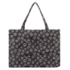 Skull Halloween Background Texture Medium Zipper Tote Bag