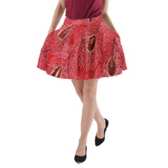 Red Peacock Floral Embroidered Long Qipao Traditional Chinese Cheongsam Mandarin A Line Pocket Skirt