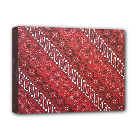 Red Batik Background Vector Deluxe Canvas 16  X 12