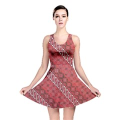 Red Batik Background Vector Reversible Skater Dress