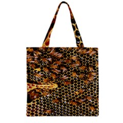 Queen Cup Honeycomb Honey Bee Grocery Tote Bag