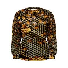 Queen Cup Honeycomb Honey Bee Women s Sweatshirt