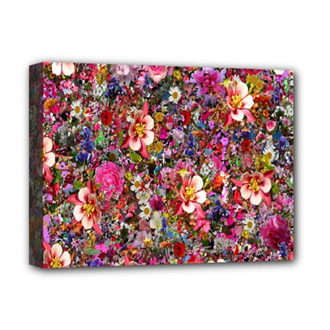 Psychedelic Flower Deluxe Canvas 16  X 12