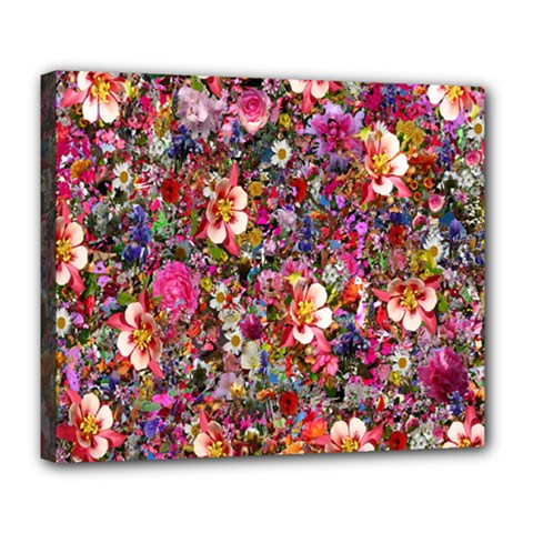 Psychedelic Flower Deluxe Canvas 24  X 20