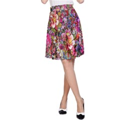Psychedelic Flower A Line Skirt