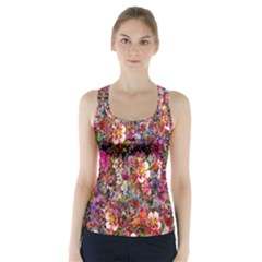 Psychedelic Flower Racer Back Sports Top