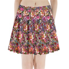 Psychedelic Flower Pleated Mini Skirt