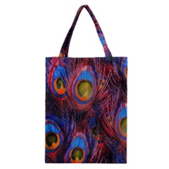 Pretty Peacock Feather Classic Tote Bag
