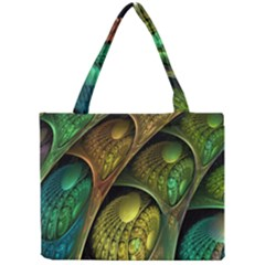 Psytrance Abstract Colored Pattern Feather Mini Tote Bag