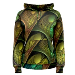 Psytrance Abstract Colored Pattern Feather Women s Pullover Hoodie