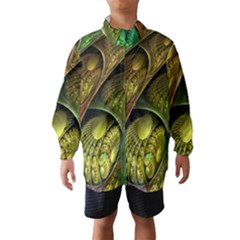 Psytrance Abstract Colored Pattern Feather Wind Breaker (kids)