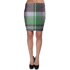 Plaid Fabric Texture Brown And Green Bodycon Skirt