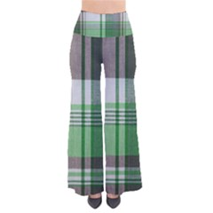 Plaid Fabric Texture Brown And Green Pants