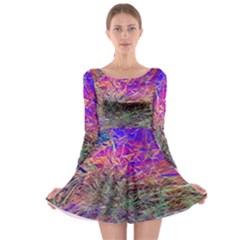Poetic Cosmos Of The Breath Long Sleeve Skater Dress