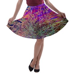 Poetic Cosmos Of The Breath A Line Skater Skirt
