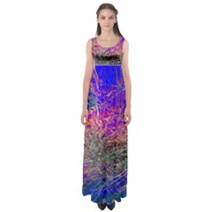Poetic Cosmos Of The Breath Empire Waist Maxi Dress