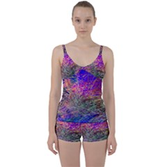 Poetic Cosmos Of The Breath Tie Front Two Piece Tankini