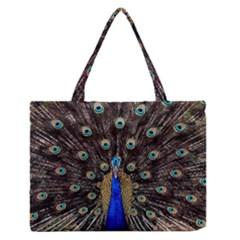 Peacock Medium Zipper Tote Bag