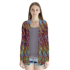 Neurobiology Drape Collar Cardigan