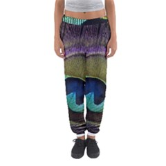 Peacock Feather Women s Jogger Sweatpants