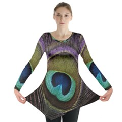 Peacock Feather Long Sleeve Tunic