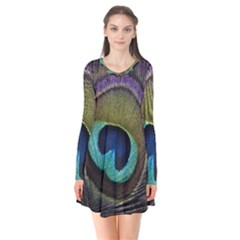 Peacock Feather Flare Dress