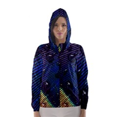 Peacock Feather Retina Mac Hooded Wind Breaker (women)