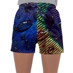 Peacock Feather Retina Mac Sleepwear Shorts