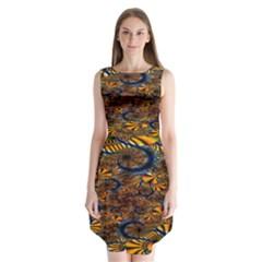 Pattern Bright Sleeveless Chiffon Dress