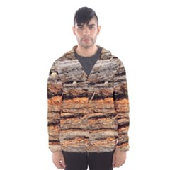 Natural Wood Texture Hooded Wind Breaker (men)