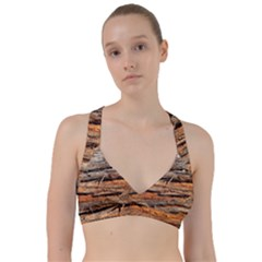 Natural Wood Texture Sweetheart Sports Bra