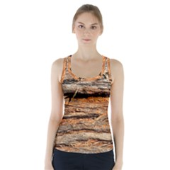 Natural Wood Texture Racer Back Sports Top