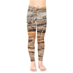 Natural Wood Texture Kids  Legging