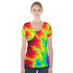 Misc Fractals Short Sleeve Front Detail Top