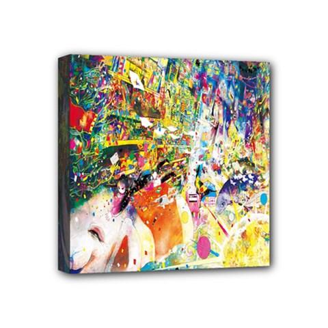 Multicolor Anime Colors Colorful Mini Canvas 4  X 4