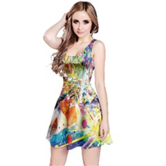 Multicolor Anime Colors Colorful Reversible Sleeveless Dress