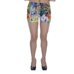 Multicolor Anime Colors Colorful Skinny Shorts
