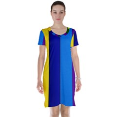 Paper Rainbow Colorful Colors Short Sleeve Nightdress