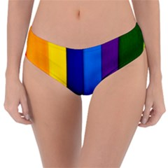 Paper Rainbow Colorful Colors Reversible Classic Bikini Bottoms