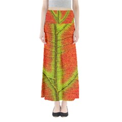 Nature Leaves Full Length Maxi Skirt