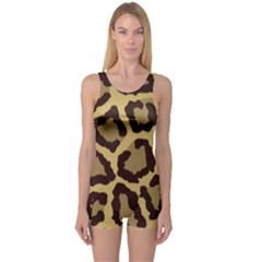 Leopard One Piece Boyleg Swimsuit